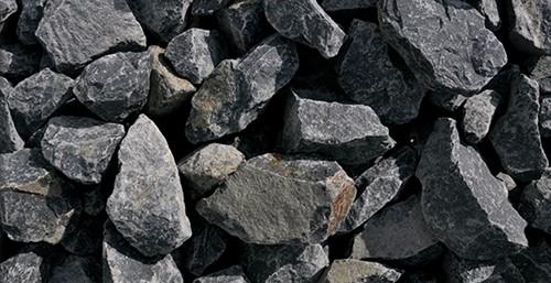 Stenen Friuli, afm. 5 - 7,5 cm, grijs-zwart, voor 3 muurkorven (0,39 m3)