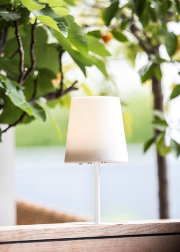 Gacoli tuinlamp Checkmate No.1, hoogte 24 cm, WIT