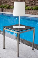 Gacoli tuinlamp Checkmate No.2, hoogte 45 cm, WIT