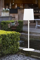 Gacoli tuinlamp Checkmate No.2 Park, WIT, hoogte 92 cm