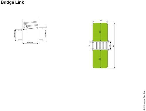 Houtpakket voor Jungle Gym Bridge Link, op maat gezaagd-3