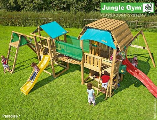Houtpakket voor Jungle Gym Bridge Link, op maat gezaagd-2