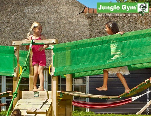 Houtpakket voor Jungle Gym Bridge Link, op maat gezaagd