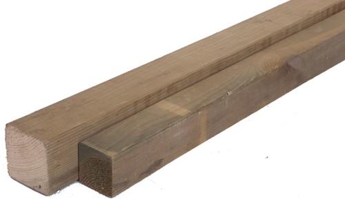 geïmpregneerd geschaafde grenen paal, afm.  8,6 x 8,6 cm, lengte 270 cm