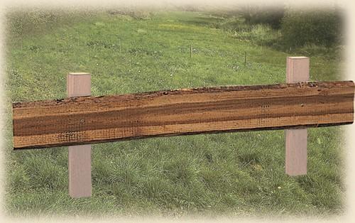 geïmpregneerde grenen plank, onbekant, afm. ± 2x 12-25, lengte 400 cm