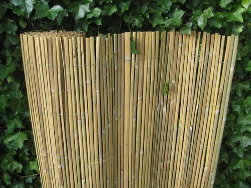 gespleten bamboemat op rol, 500 cm breed, blank