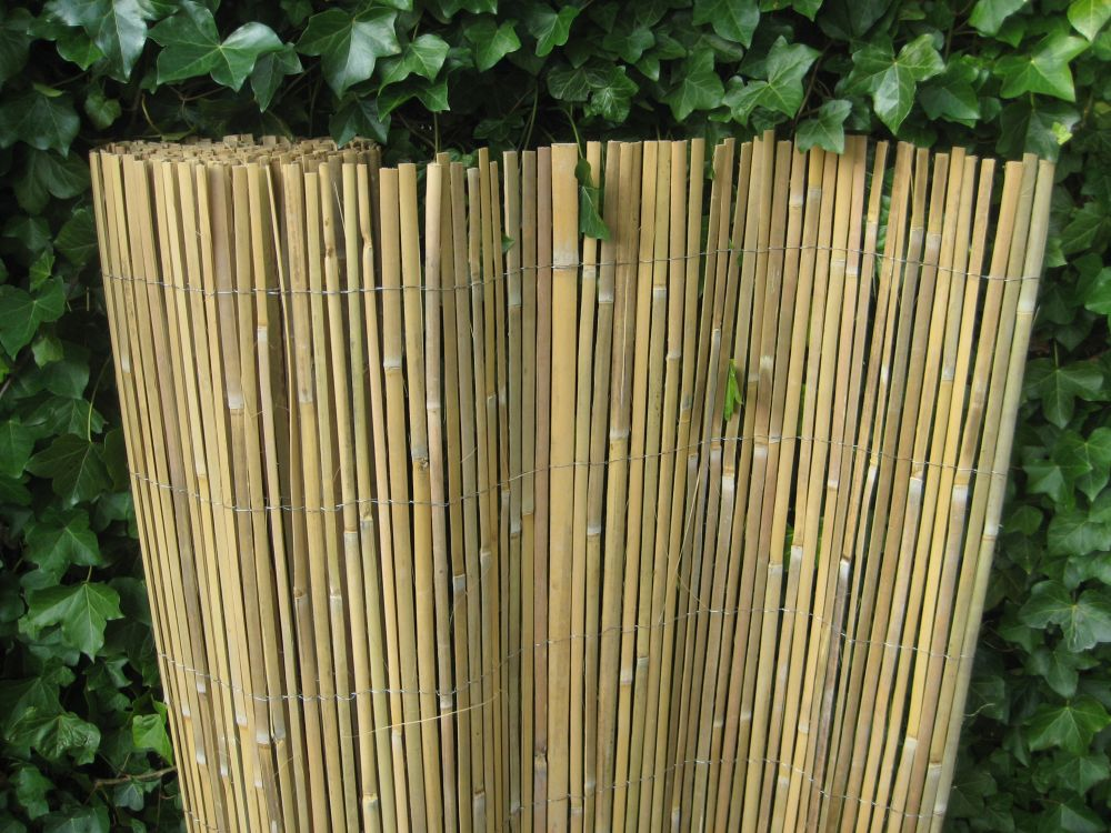Kühlkamp gespleten bamboemat op rol, 150 x 500 cm (h x b), blank