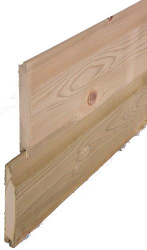 Normaal rabat, afm  1,8 x 14,5 cm, lengte 360 cm, geïmpregneerd grenen