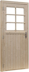 Deur 6-ruits, enkel, buitenmaat 91 x 201,5 cm, vurenhout
