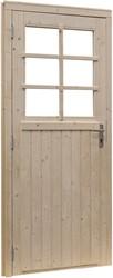 Deur 6-ruits, enkel, buitenmaat 114 x 201,5 cm, extra breed, vurenhout