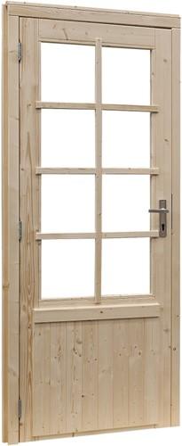 Deur 8-ruits, enkel, buitenmaat 91 x 201,5, vurenhout
