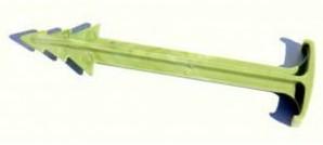 Pen, biologisch afbreekbaar, om kokosmat in de grond te bevestigen