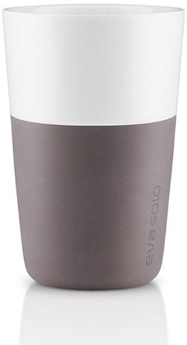 Eva Solo Caffé latte mok, inhoud 360 ml, grijs, per 2 st.