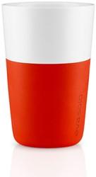 Eva Solo Caffé latte mok, inhoud 360 ml, oranje, per 2 st.