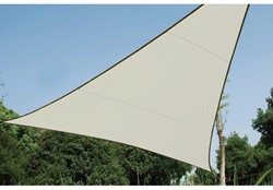zonnezeil, driehoek, afmeting 3,6 x 3,6 x 3,6 m, crème