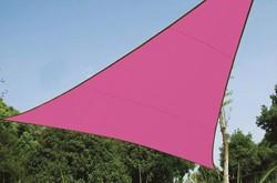 zonnezeil, driehoek, afmeting 3,6 x 3,6 x 3,6 m, fuchsia