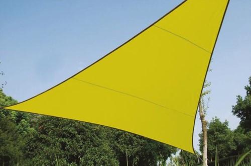 zonnezeil, driehoek, afmeting 3,6 x 3,6 x 3,6 m, groen