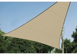 zonnezeil, driehoek, afmeting 3,6 x 3,6 x 3,6 m, beige