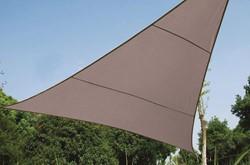 zonnezeil, driehoek, afmeting 3,6 x 3,6 x 3,6 m, taupe