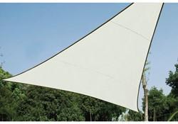 zonnezeil, driehoek, afmeting 5 x 5 x 5 m, crème