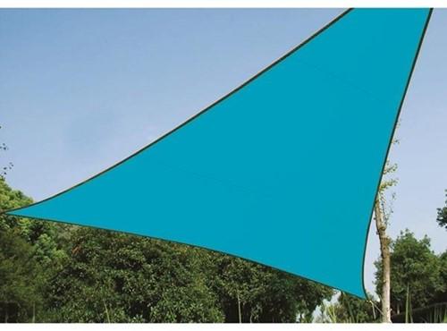 zonnezeil, driehoek, afmeting 5 x 5 x 5 m, blauw