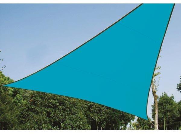 Perel zonnezeil, driehoek, afmeting 5 x 5 x 5 m, blauw