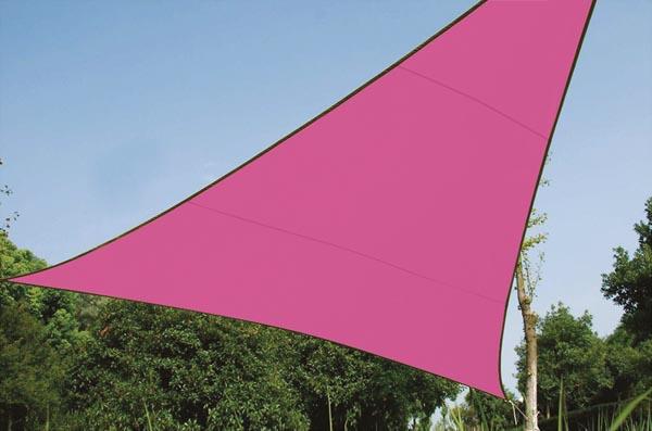 Perel zonnezeil, driehoek, afmeting 5 x 5 x 5 m, fuchsia