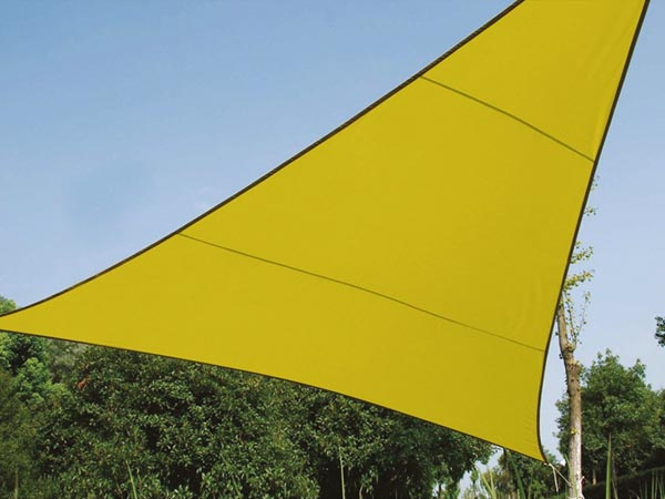 Perel zonnezeil, driehoek, afmeting 5 x 5 x 5 m, groen