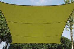 zonnezeil, vierkant, afmeting 3,6 x 3,6 m, groen