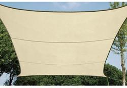 zonnezeil, vierkant, afmeting 3,6 x 3,6 m, beige