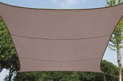 zonnezeil, vierkant, afmeting 3,6 x 3,6 m, taupe