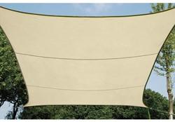 zonnezeil, vierkant, afmeting 5 x 5 m, beige