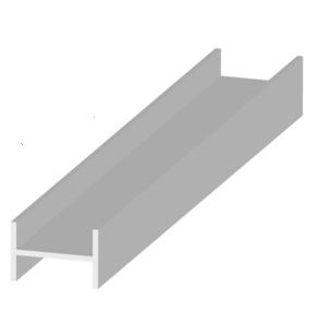 Garden Trade H-paal, afm. 10 x 14, 1 x 100 cm, verzinkt staal