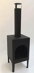 Buitenhaard Toronto, 35 x 35 cm, hoogte 125 cm, zwart geëmailleerd staal