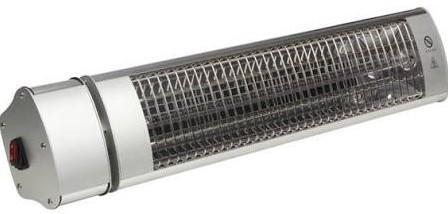 Toolland elektrische terrasheater, halogeen, vermogen 1800W, wandmodel