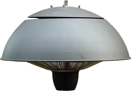 Sunred elektrische terrasheater CE11, halogeen, vermogen 1500 W, hangmodel, grijs