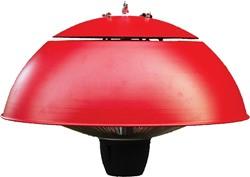 Sunred elektrische terrasheater CE11, halogeen, vermogen 1500 W, hangmodel, rood
