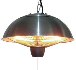 Sunred elektrische terrasheater CE11, halogeen, vermogen 1500 W, hangmodel, rvs