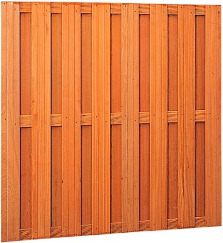 Tuinscherm, 15-planks, afm. 180 x 180 cm, hardhout