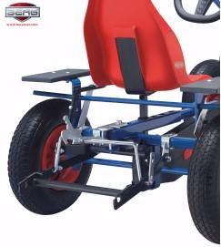 BERG hefinrichting voor koppeling van liftbakje, palletvork of schuif aan BERG skelter
