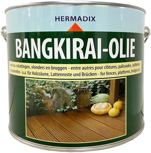 Hermadix bangkirai-olie, blik 2,5 liter