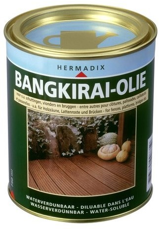 Hermadix bangkirai-olie, blik 0,75 liter