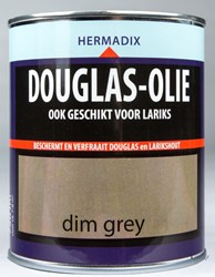 Hermadix douglas olie, transparant, dim grey, blik 0,75 liter