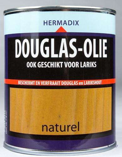 Hermadix douglas olie, transparant, naturel, blik 0,75 liter