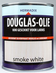 Hermadix douglas olie, transparant, smoke white, blik 0,75 liter