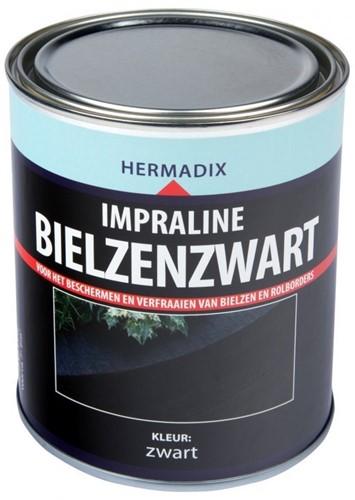 Hermadix impraline bielzenzwart, blik 0,75 liter