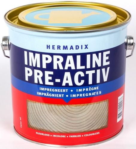 Hermadix Impraline pre-activ impregneermiddel, blik 2,5 liter