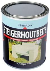 Hermadix steigerhoutbeits, transparant, schelpenwit, blik 0,75 liter