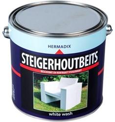 Hermadix steigerhoutbeits, transparant, white wash, blik 2,5 liter