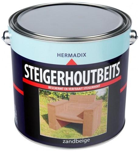 Hermadix steigerhoutbeits, transparant, zandbeige, blik 2,5 liter